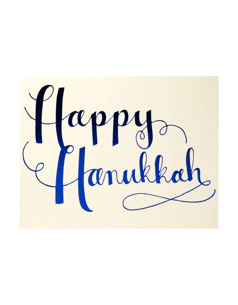 Happy Hanukkah Blue Box of 8