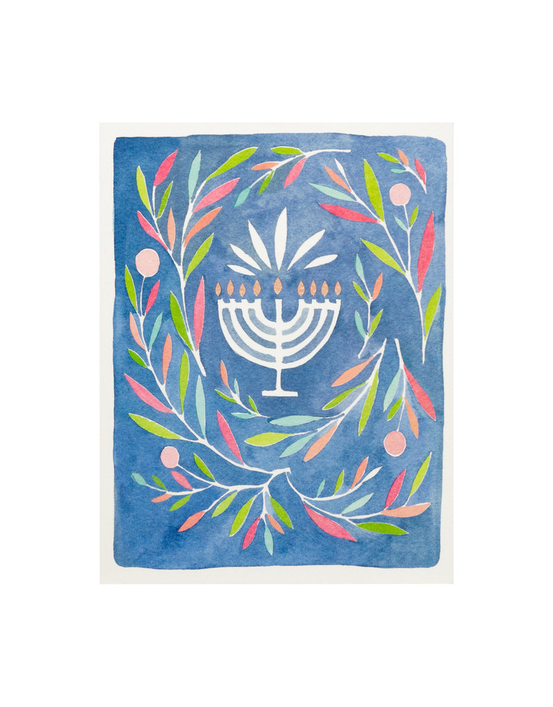 E. Frances Paper Peaceful Menorah Box of 6