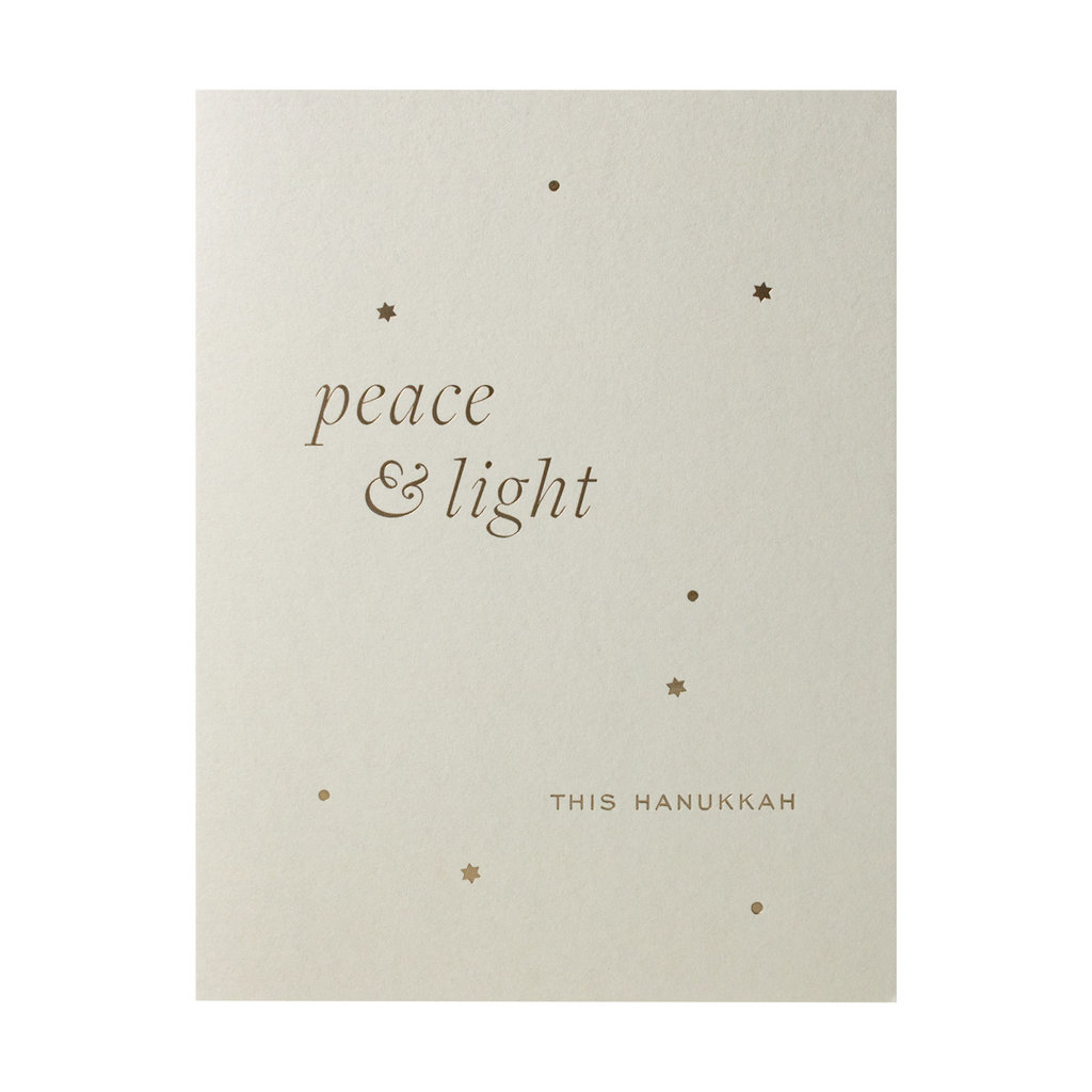 Smitten On Paper Peace and Light Hanukkah Box of 6