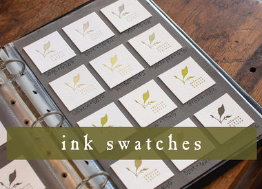 ink swatches