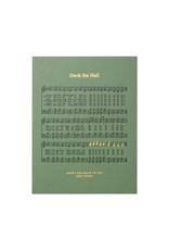 Woodsy Foxman Deck the Hall sheet music Letterpress Card