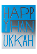 Egg Press Hanukkah Blocks Letterpress Card