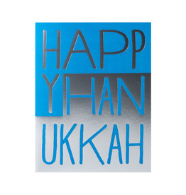 Egg Press Hanukkah Blocks Letterpress Card