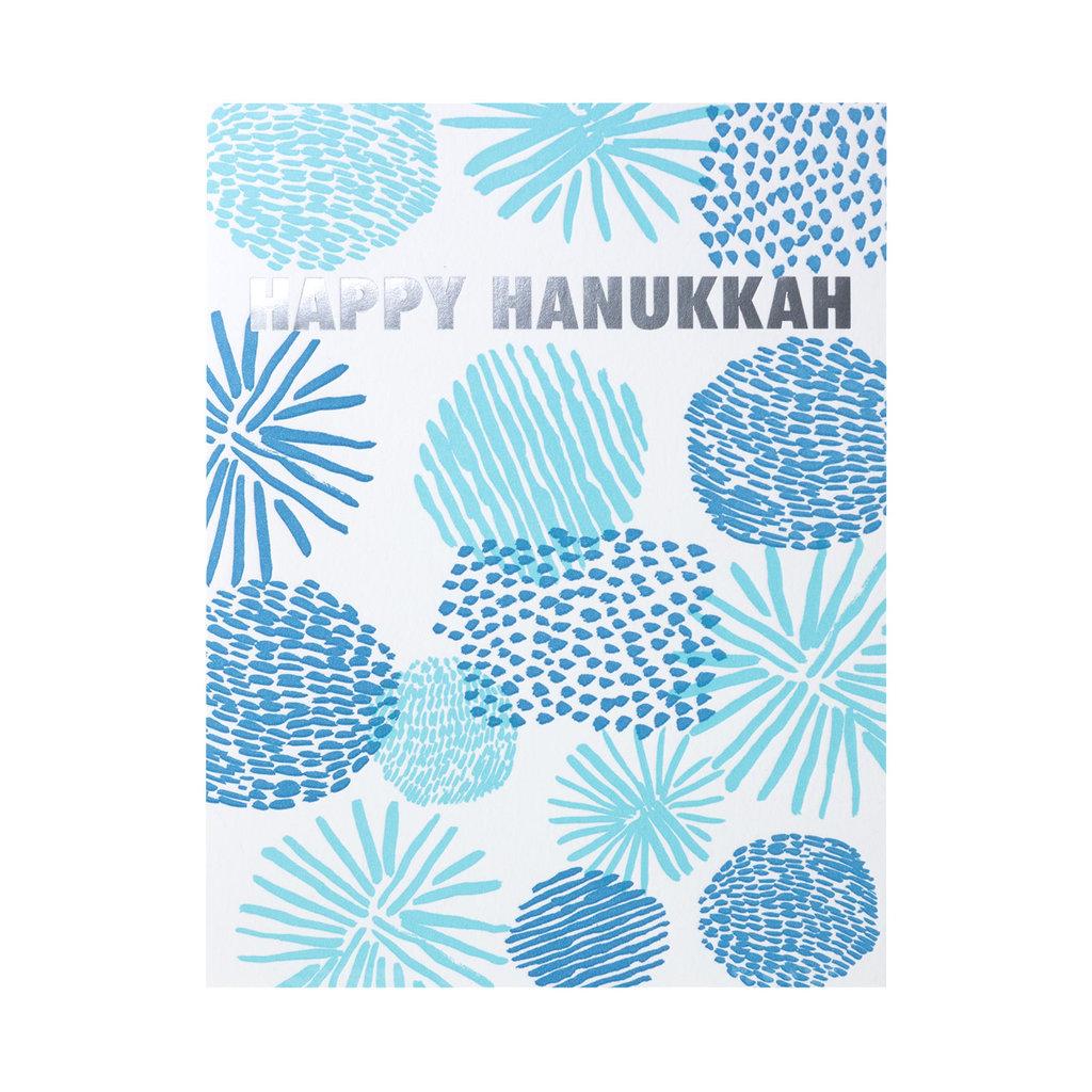 Egg Press Happy Hanukkah Shapes Letterpress Card