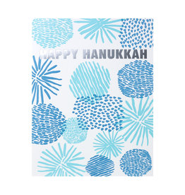 Egg Press Happy Hanukkah Shapes Letterpress Card