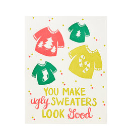 9th Letterpress Ugly Sweater Card