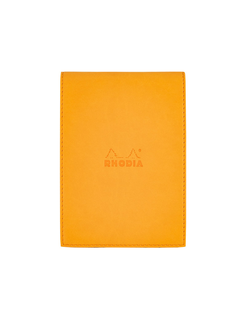 Rhodia Rhodia Cover with Lined Pad Orange 4.5 x 6.25