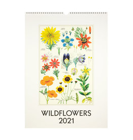 cavallini 2021 Wildflowers Wall Calendar