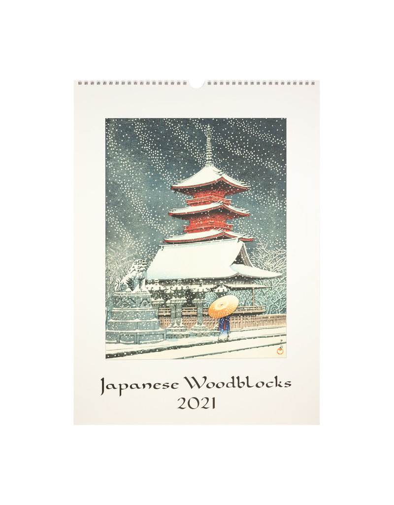 cavallini 2021 Japanese Woodblock Wall Calendar