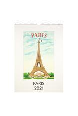 cavallini 2021 Paris Wall Calendar