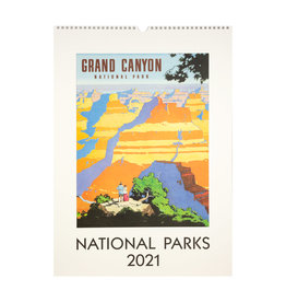 cavallini 2021 National Parks Wall Calendar