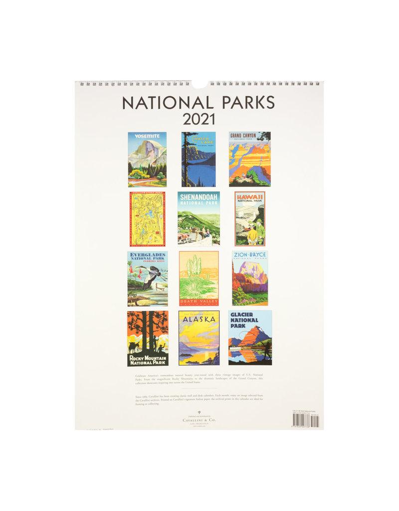 cavallini 2021 National Parks Wall Calendar