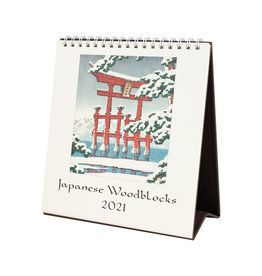 cavallini 2021 Japanese Woodblock Desk Calendar