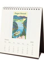cavallini 2021 Seattle Desk Calendar