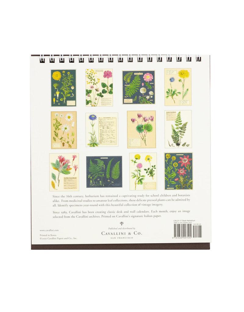 cavallini 2021 Herbarium Desk Calendar