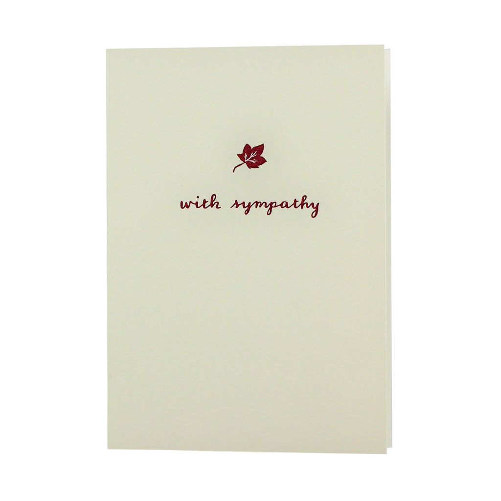 Oblation Papers & Press with sympathy maple leaf motif