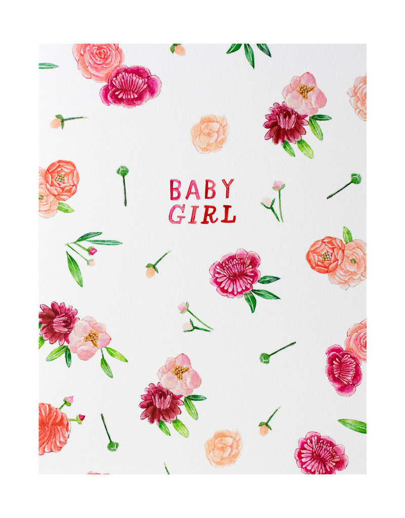 Floral Baby Girl Card