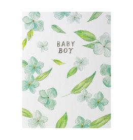 Floral Baby Boy Card