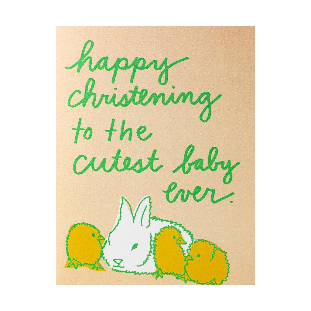 La Familia Green Cute Christening