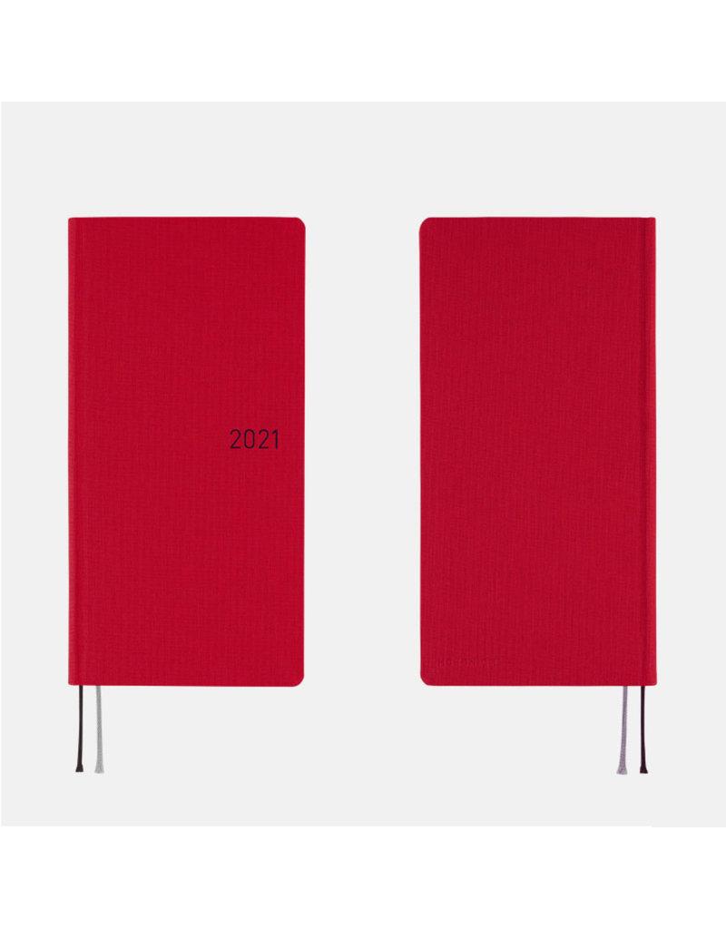 Hobonichi Weeks Deep Red Hobonichi Techo 2021