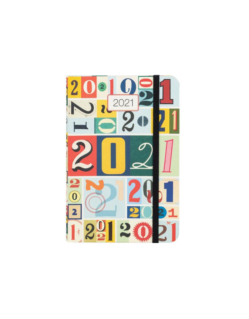 cavallini 2021 Vintage Numbers Weekly Planner