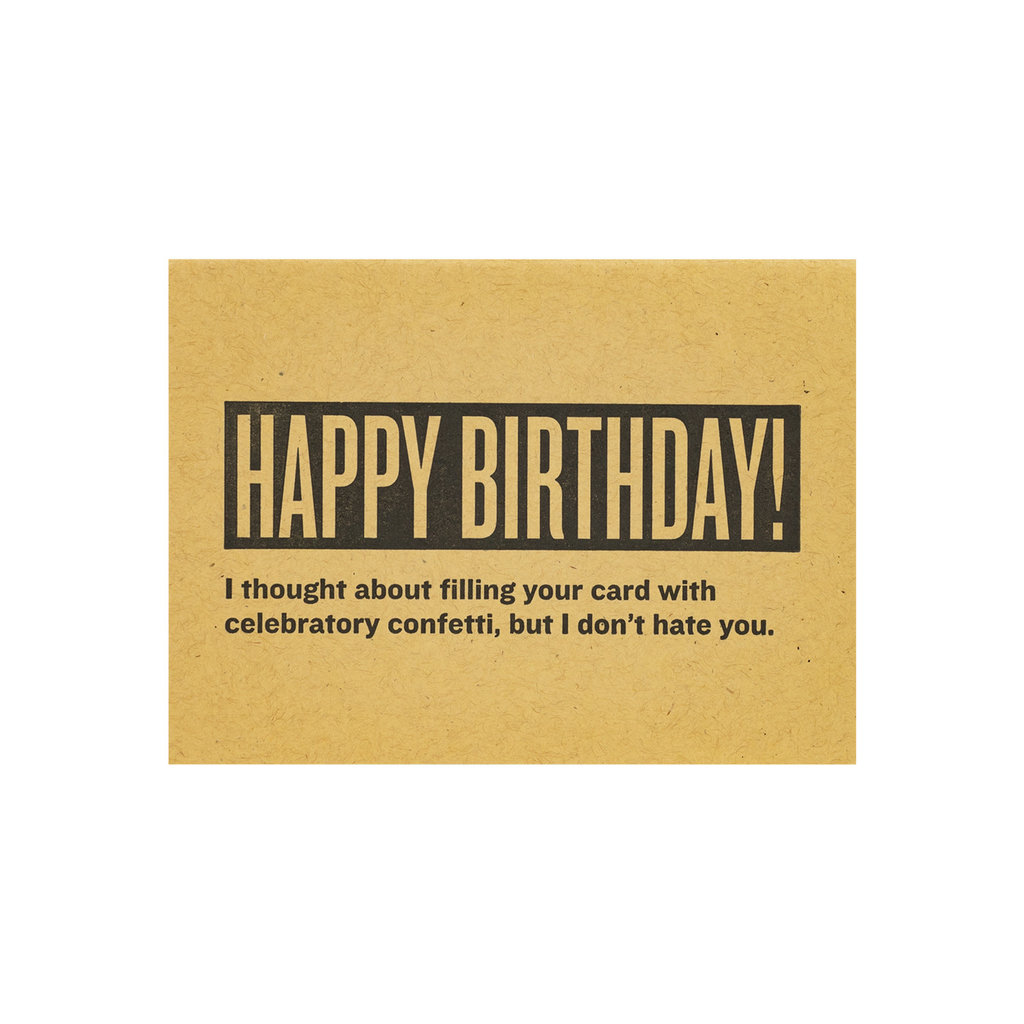Constellation and Co. Happy Birthday! CONFETTI Letterpress Card
