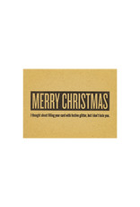 Constellation and Co. Merry Christmas Glitter Letterpress Card