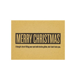 Constellation and Co. Merry Christmas Glitter Card