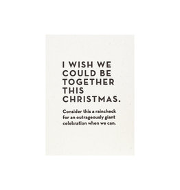 Constellation and Co. Christmas Raincheck Card