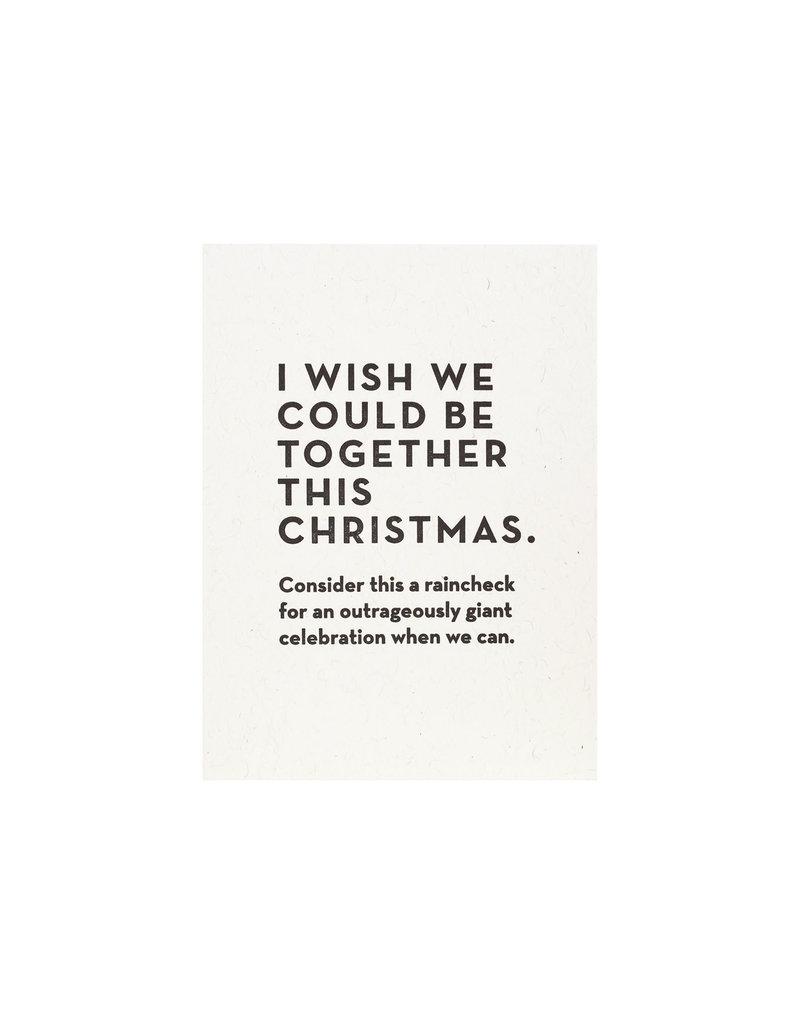 Constellation and Co. Christmas Raincheck Card