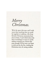 Constellation and Co. Merry Christmas Paragraph Letterpress Card