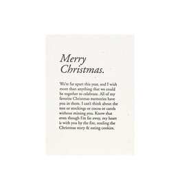 Constellation and Co. Merry Christmas Paragraph Card