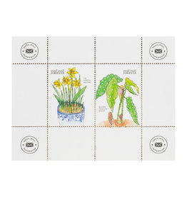 Constellation and Co. Snail Mail Seals - Begonia & Daffodil