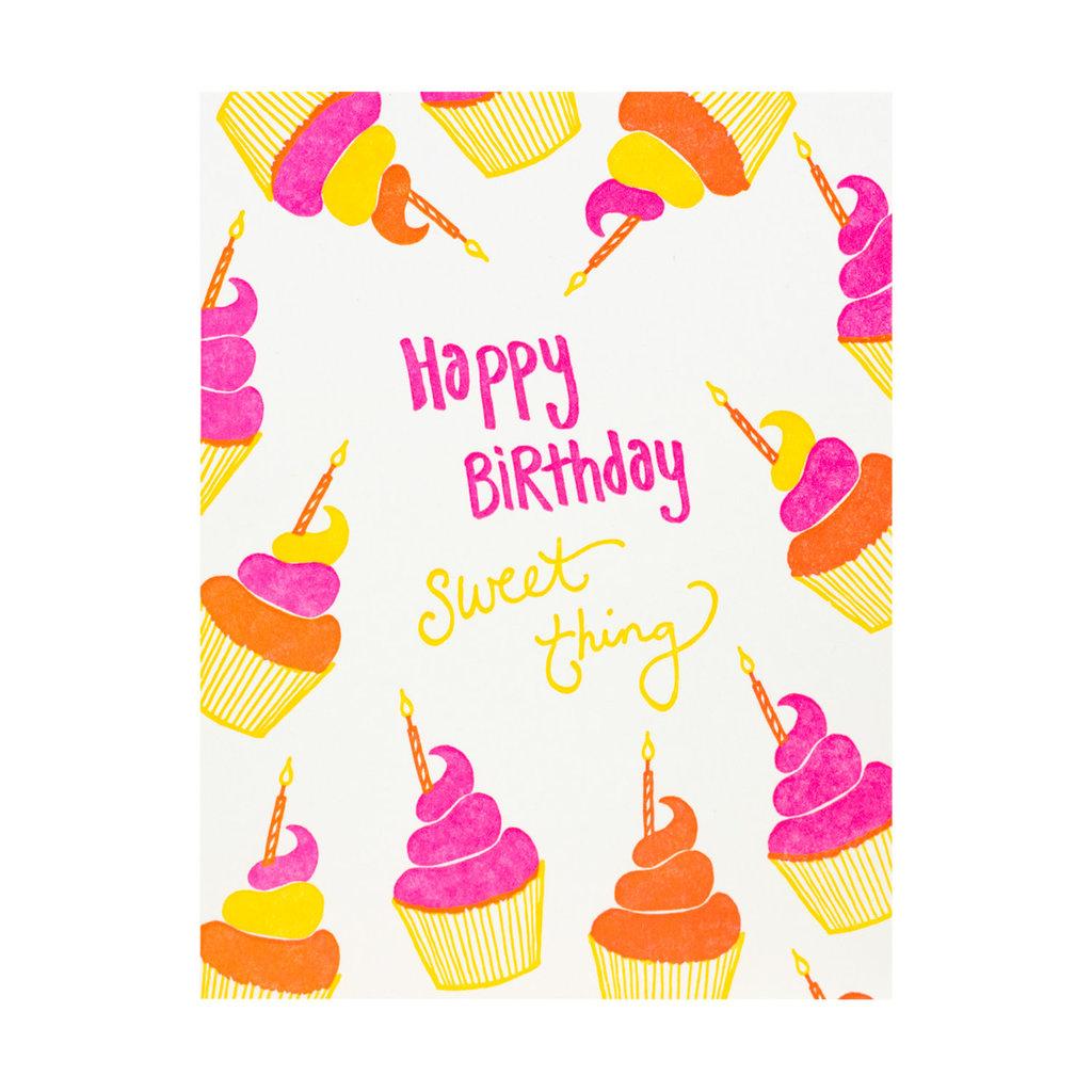 Folio Press & Paperie Cupcakes Happy Birthday Sweet Thing