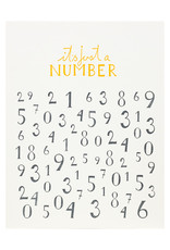 Folio Press & Paperie It's Just A Number