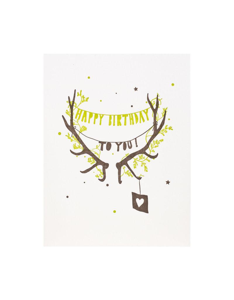 Lark Press Happy Birthday Antlers