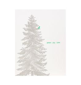 Lark Press Norway Spruce Letterpress Cards Box of 6