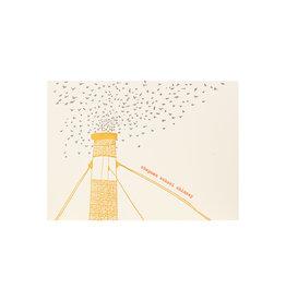 Lark Press Chapman Swifts Letterpress Card