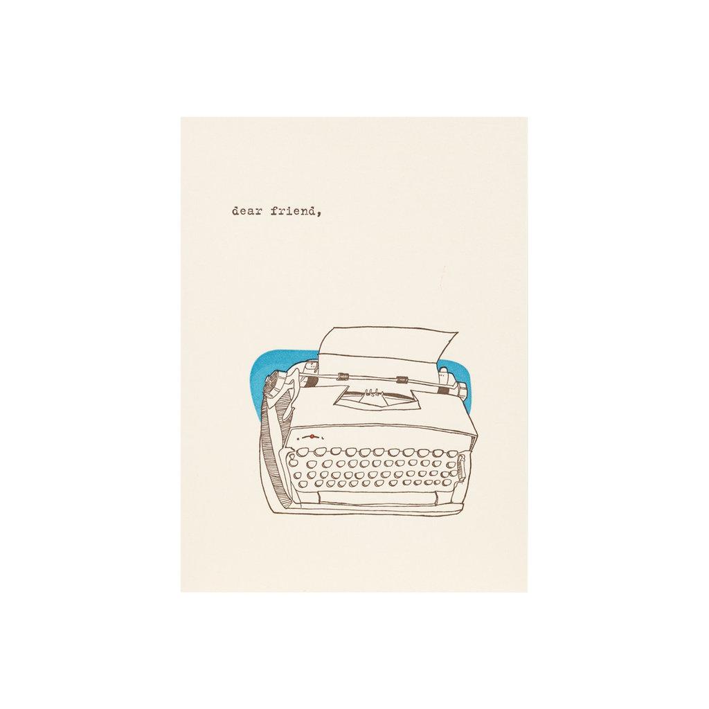 Lark Press Dear Friend Typewriter Letterpress Card