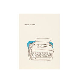 Lark Press Dear Friend Typewriter Letterpress Card