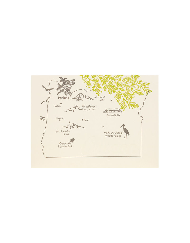 Lark Press Oregon Map with Branches