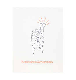 Lark Press Please please please Letterpress Card