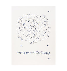 Lark Press wishing you a Stellar Birthday Letterpress Card