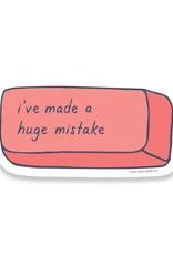 Little Goat Paper Co. Huge Mistake Eraser Sticker