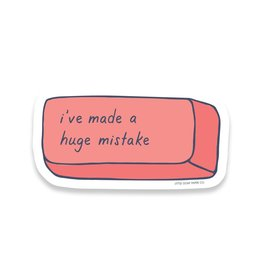 Little Goat Paper Co. Huge Mistake Eraser Sticker