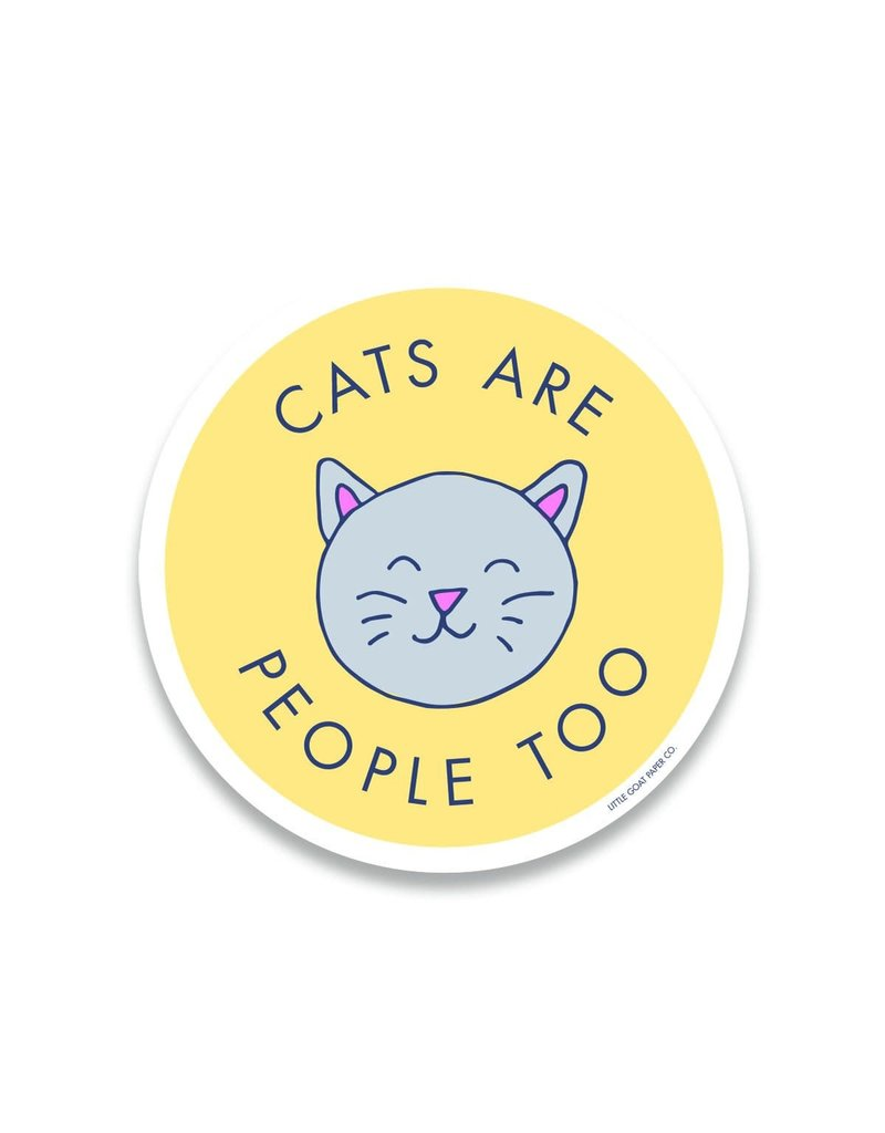 Little Goat Paper Co. Cats Are People Too Sticker