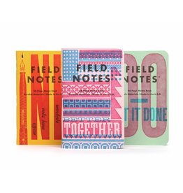 Field Notes United States of Letterpress set B - 3 pack
