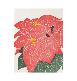 PushMePullYou Press Poinsettia Card