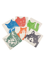 PushMePullYou Press Cat Coasters set of 6