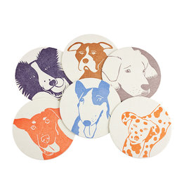 PushMePullYou Press Dog Coasters